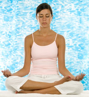 Young Woman Meditating yoga