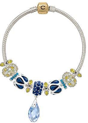 BlueYellow-Beads-Bracelet chamelia