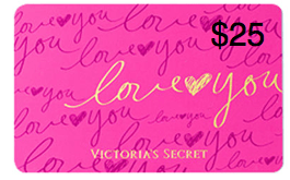 25 victorias secret gc ends 422 us and canada victoriassecret gift card iloveyou 25 negle Images
