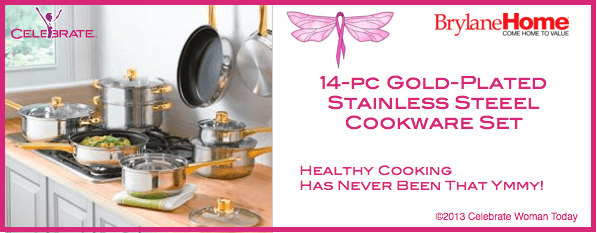 14pc-Gold-Plated-Stainless-Steel-Cookware-set
