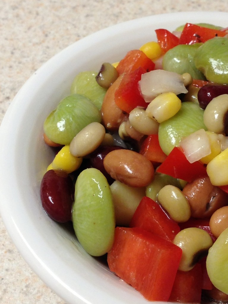 bean salad, vinaigrette