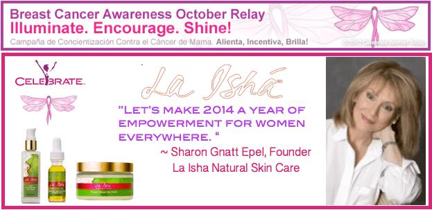 Sharon-Gnatt-Epel-La-Isha-Skin Care-BreastCancerAwareness