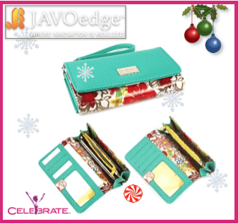 JAVOedge-floral-phone-clutch-turquoise-case-OPEN-view