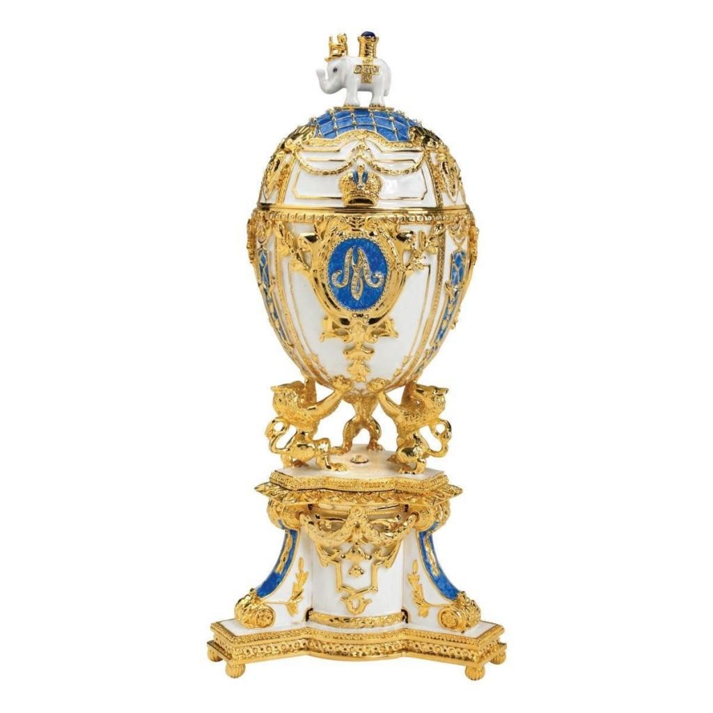 Empress Galina Faberge-Style Collectible Enameled Egg
