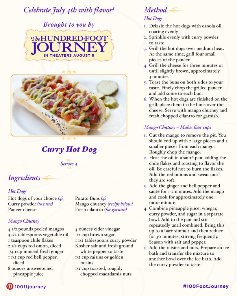 Curry Hot Dog recipe