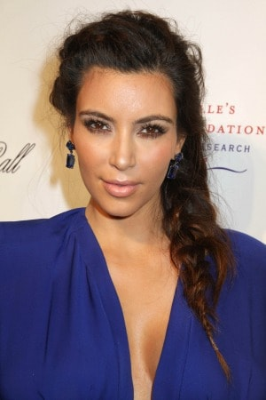 Braided Hair Kim Kardahian