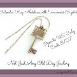 Calendar Key Necklace Swarovski Crystal