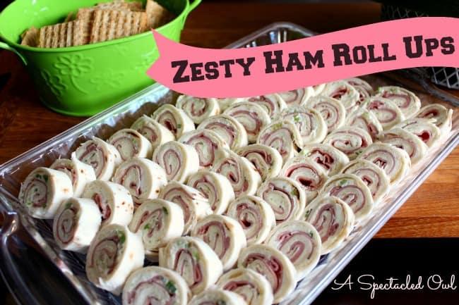 zesty ham roll ups
