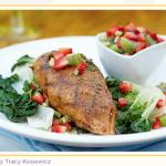 Recipe BBQ Chicken on Steamed Bok Choy-1