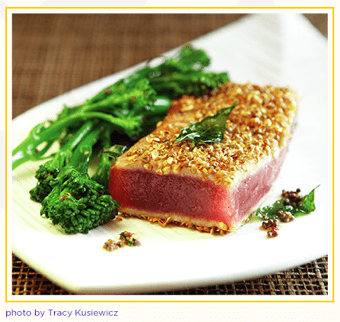 Fresh And Delicous Coriander Tuna and Broccolini Recipe