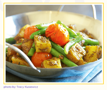 Recipe Green Bean and Potato Curry-1
