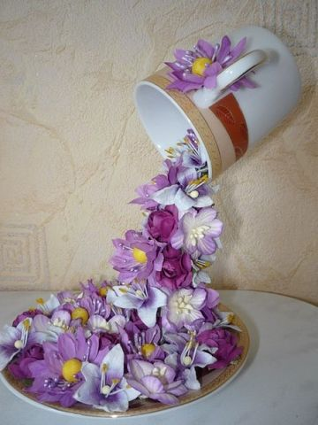 floral waterfall craft
