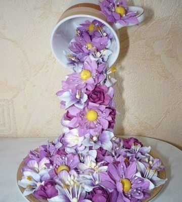 Craft Alert for Valentine In Your Life – Floral Waterfall in A Cup