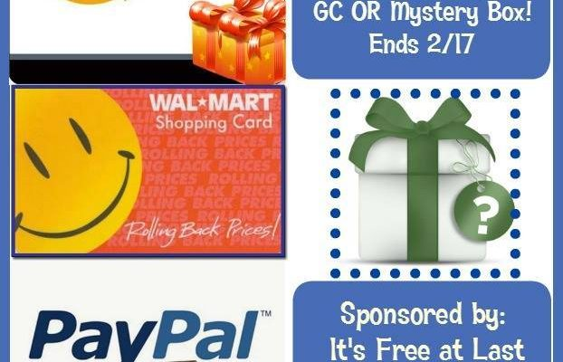 You Choice of PayPal, Walmart, Amazon $60 Gift Card