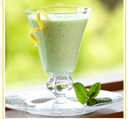 Minty Lemon Lassi Recipe