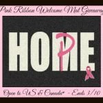 carpet one pink ribbon mat