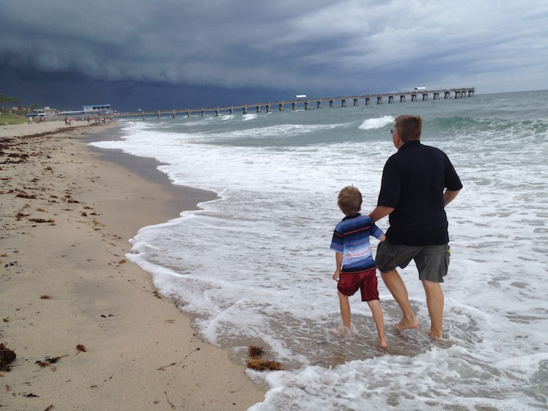 Walking the beach carefree rv resorts