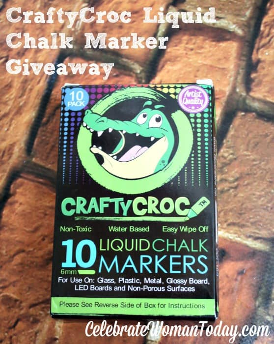Enter the CraftyCroc Liquid Chalk Markers Giveaway. Ends 3/24