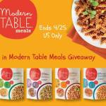 Modern Table Pastas meals