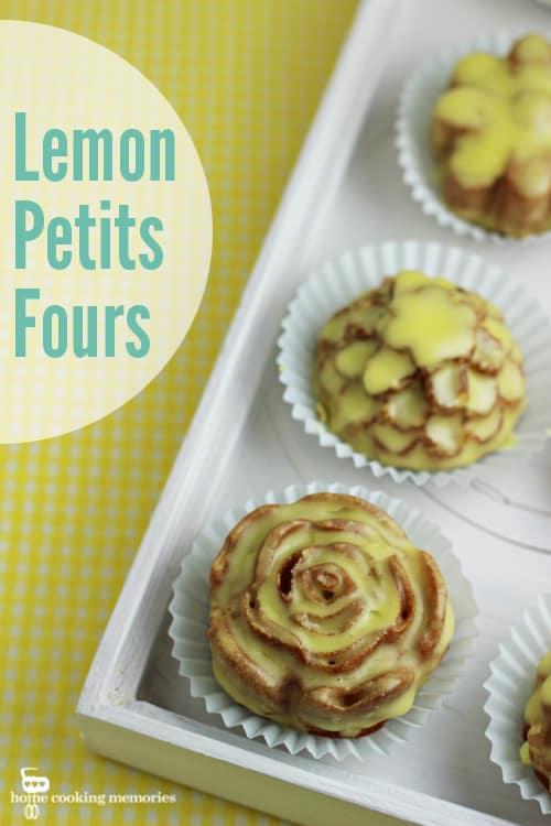 Lemon Petits Four