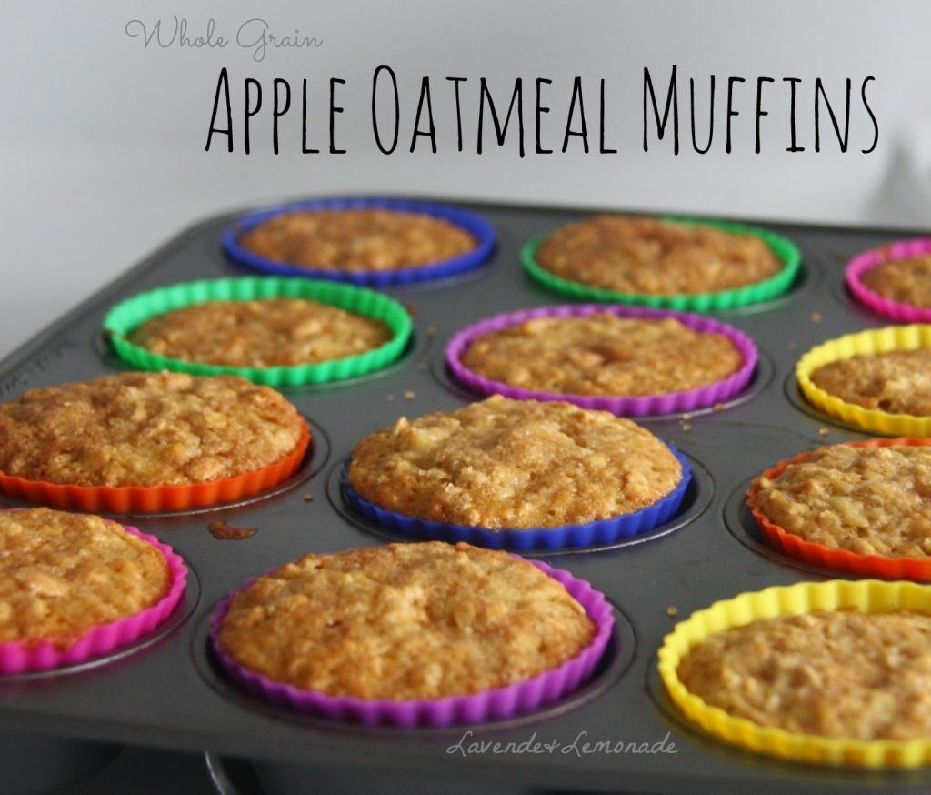 Whole Grain Apple Oatmeal Muffins
