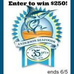 $250 Anderson Seafoods Gift Card