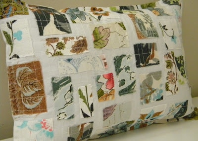 fabric scrap pillow