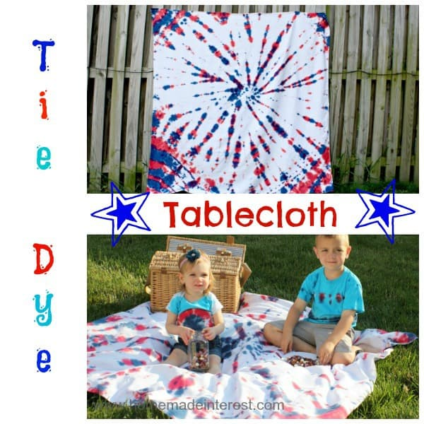 tie-dye table cloth