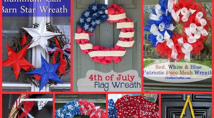 7 Independence Day Wreaths Crafts Perfect For Your Front Door #Crafts #DIY