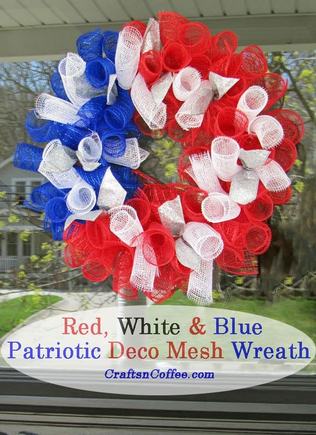mesh 4th of july wreath