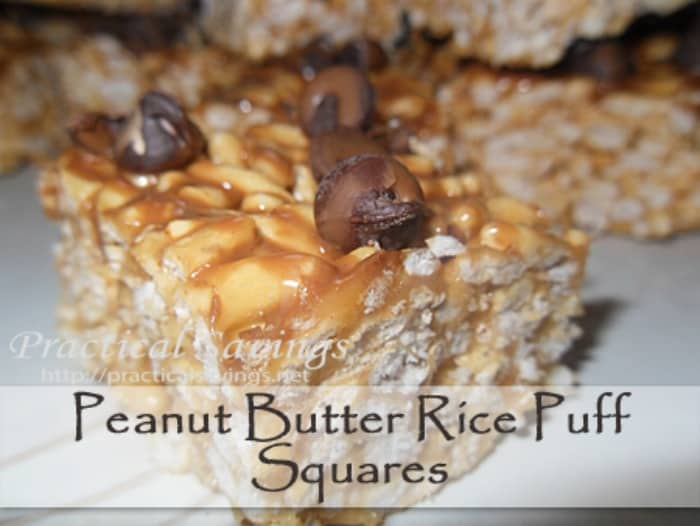 peanut butter rice puff sqaures