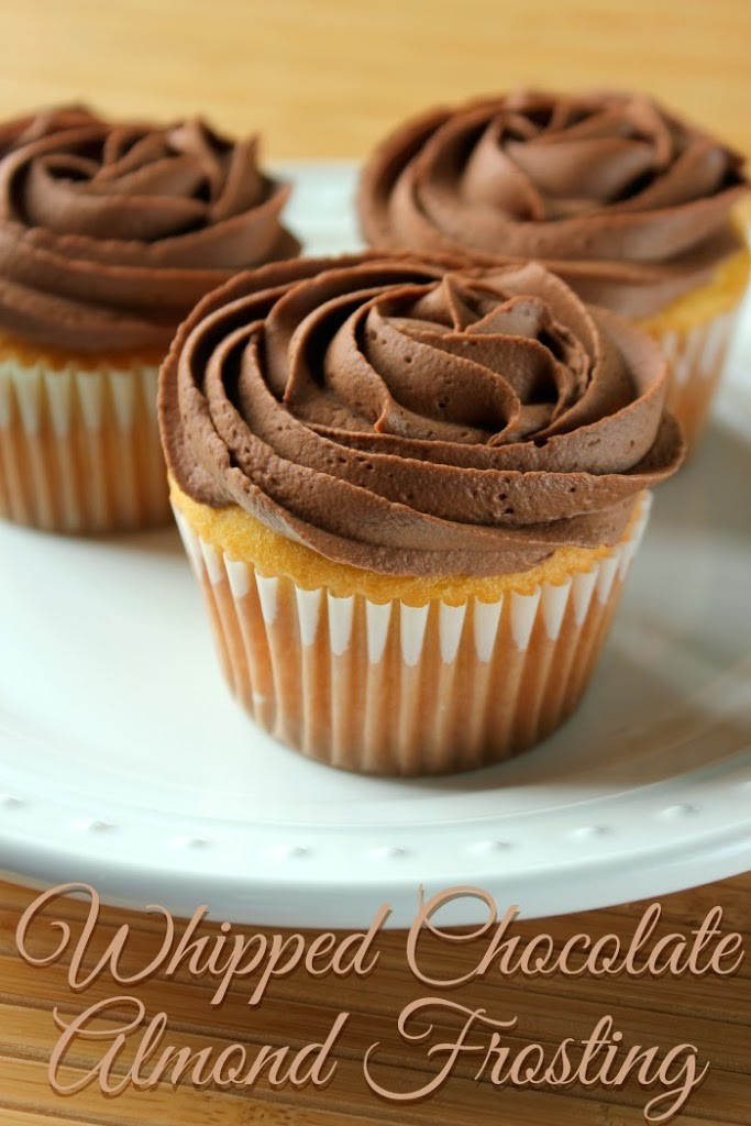 Whipped Chocolate Almond Frosting – What a perfect frosting to ...