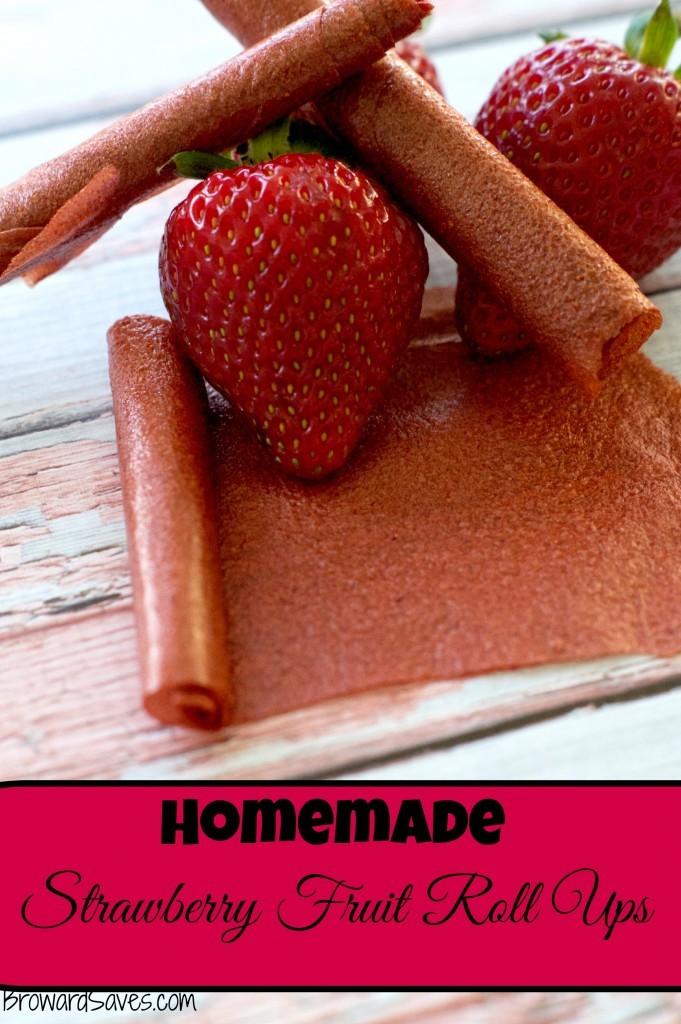 homemade strawberry fruit roll ups