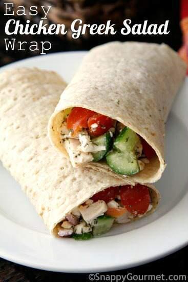 easy greek chicken wrap