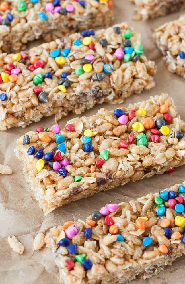 rainbow chip granola bars