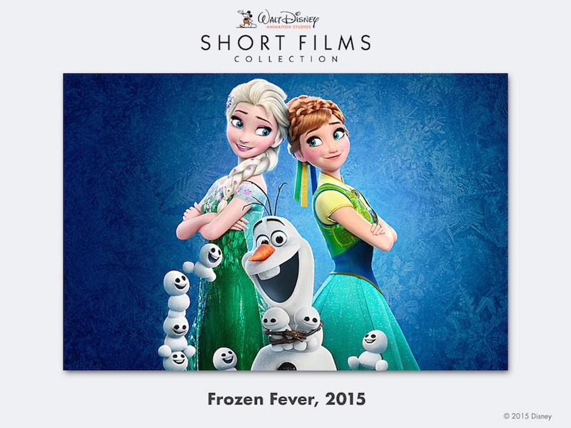 disney shorts frozen forever