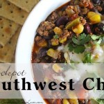 Slow Cooker Southwest Chili Recipe #12DaysOf #RecipeIdeas