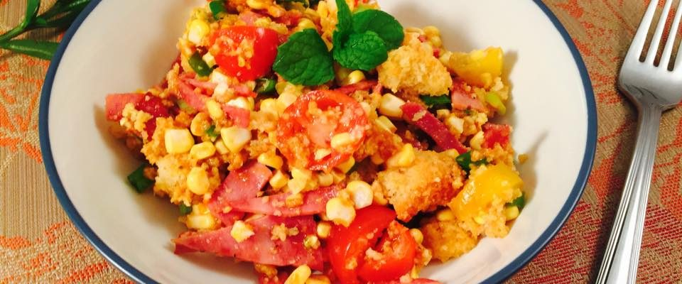Cornbread Salad Recipe with Veggies & Protein – #RecipeIdeas