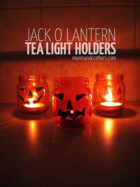 pumpkin tea light holders