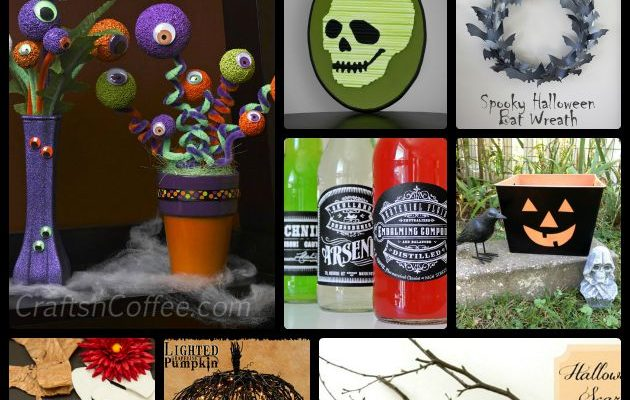 10 Crafts To Spook Up Your Halloween #DIY #Halloween #Projects