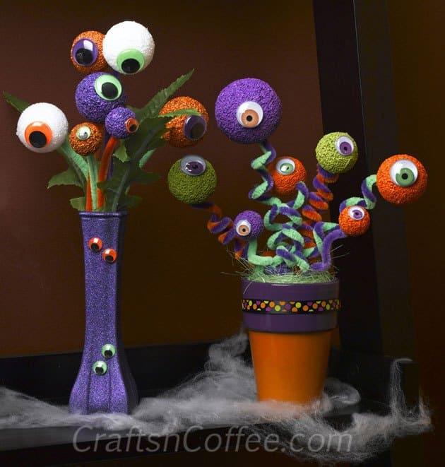 halloween eyeball bouquet