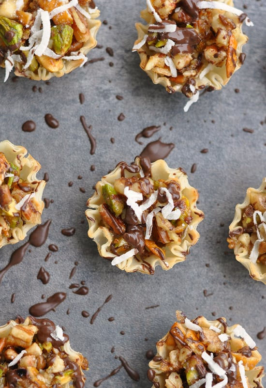 chocolate coconut no-bake baklava