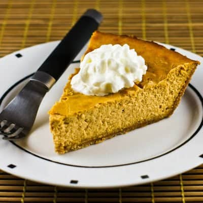 low-sugar pumpkin cheesecake pie