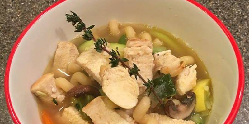 Chunky Chicken Noodle Vegetable Soup #12DaysOf #RecipeIdeas