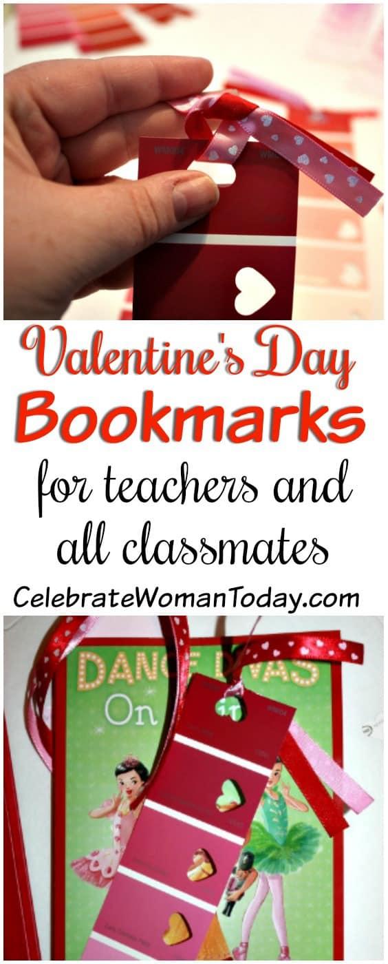 Valentine's Day Bookmarks Craft, Valentine's Day Craft Tutorial