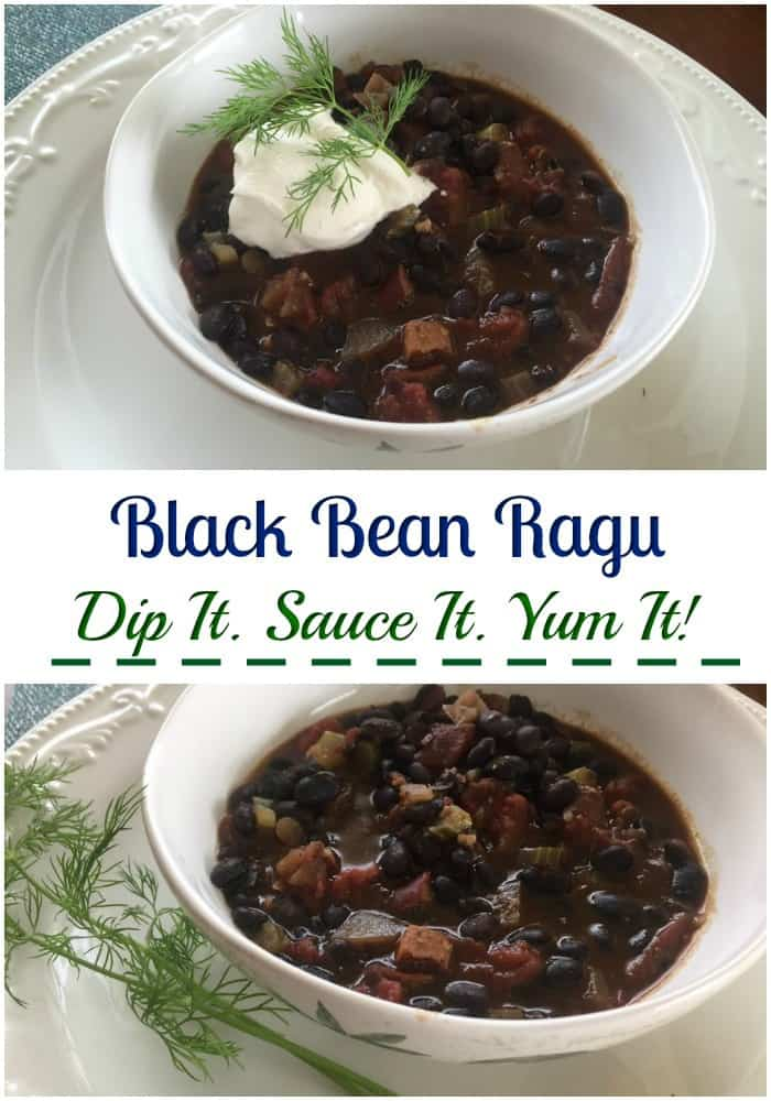Black Bean Ragu recipe for superbowl