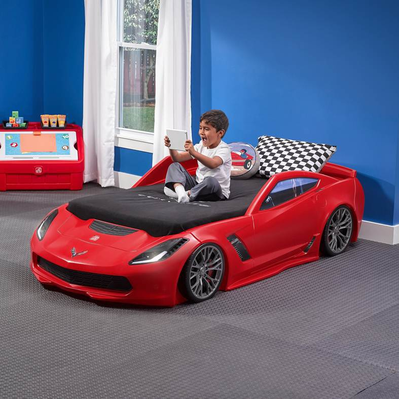 speed into spring with step 2 corvette toddler bed