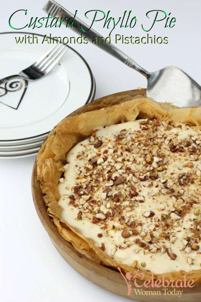 Custard Phyllo Pie Recipe