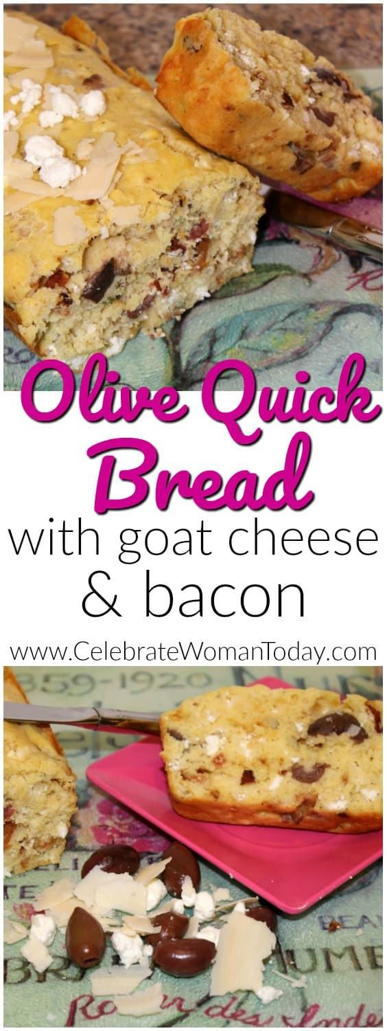 Quick Olive Bread Recipe, goat cheese, olives