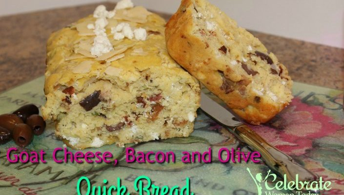 Goat Cheese, Bacon and Olive Quick Bread #HeartThis # ...
